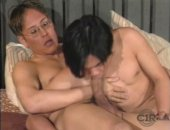 Asian Twink Sucks Off Older Daddy