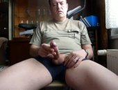 Mature Daddy Jerks his Cum Out